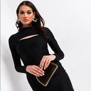 NWT Black Akira Midi Dress